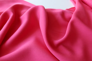 Grandeur Fuchsia Viscose Twill Dress Fabric