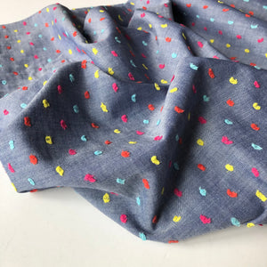 Rainbow Dots Embroidered Fine Cotton