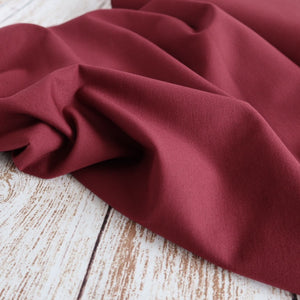 Burgundy Viscose Ponte Roma Double Knit Fabric
