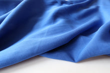 Grandeur Royal Blue Viscose Twill Dress Fabric