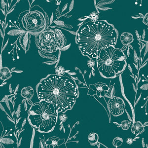 Art Gallery Fabrics - Line Drawings Floralia