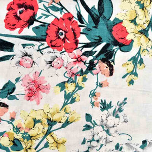 Summer Flowers Cotton / Linen Mix