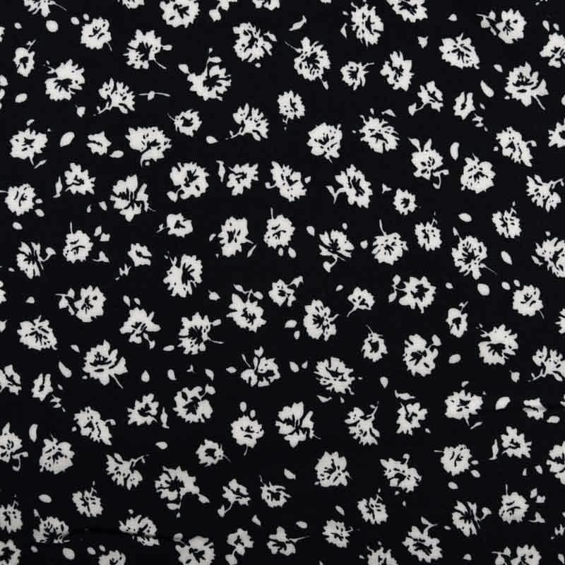 Javanaise Midnight Floral Viscose / Rayon dress fabric