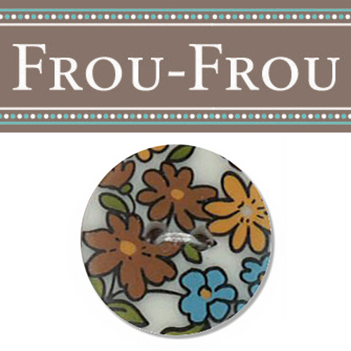 Frou Frou Fleuri Buttons - 100% Acrylic  18mm or 25mm