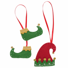 Make your own - Felt Elf Boots & Hat Decoration