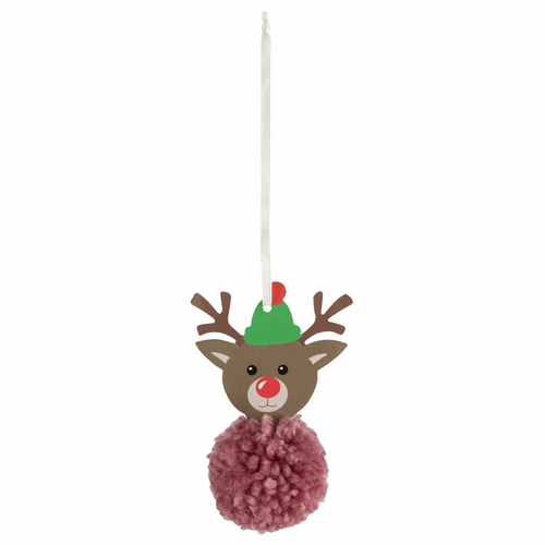 Make your own - Pom Pom Reindeer Decoration