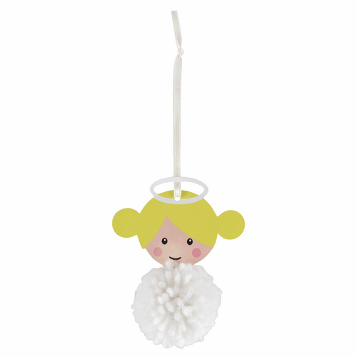 Make your own - Pom Pom Angel Decoration