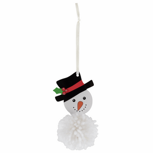 Make your own - Pom Pom Snowman Decoration