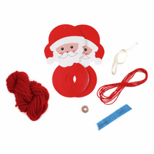 Make your own - Pom Pom Santa Decoration