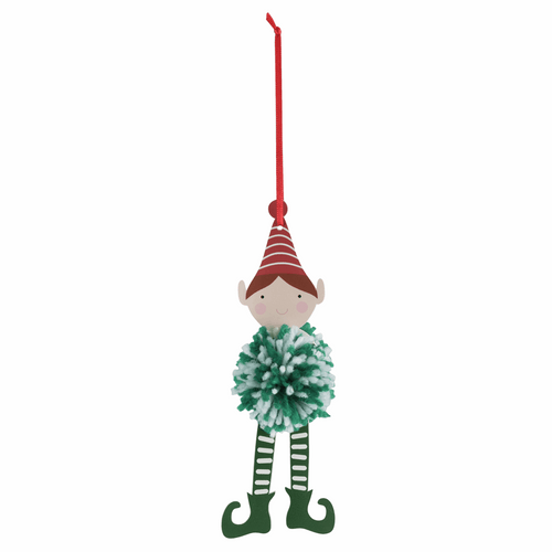 Make your own - Pom Pom Christmas Elf Decoration