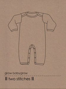 Two Stitches -Babygrow Sewing Pattern birth - 24 months