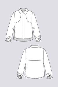 Named Clothing - HELMI Trench Blouse 2in1 Sewing Pattern