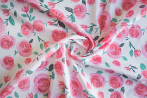 Lisa Comfort - All the Roses Cotton Lawn - White