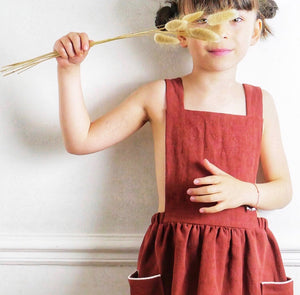 Ikatee - MILANO KIDS Apron Dress 3-12 Years - Paper Sewing Pattern