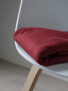 Mind The MAKER - Organic Chevron Quilt Knit Red 160cm wide