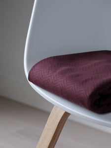 Mind The MAKER - Organic Chevron Quilt Knit Bordeaux 160cm wide