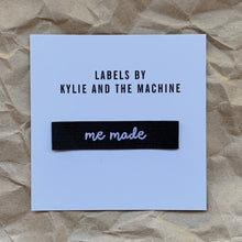 "Kylie and the Machine - ""ME MADE"" Pack of 8 Woven Labels"