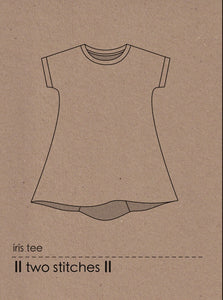 Two Stitches - Iris Tee Sewing Pattern 6 months - 9 years