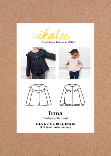 Ikatee - IRMA Cardigan / Vest  3-12 Years - Paper Sewing Pattern