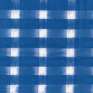 John Louden - Ikat -  Ivory on Delph -Colour Woven Cotton