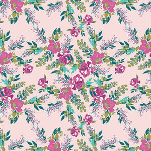 REMNANT 1.33 meters Art Gallery Fabrics - Episodic Blooms Carina Knit / Cotton Jersey