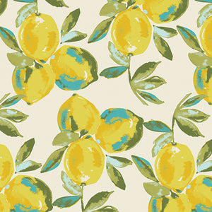Art Gallery Fabrics - Yuma Lemons Mist in Knit