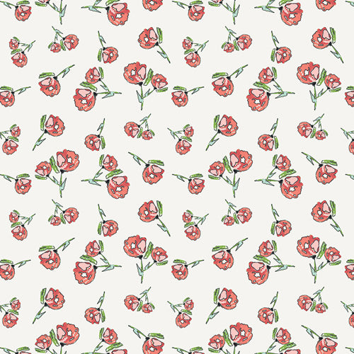Art Gallery Fabrics - Lively Rosebuds Crystal in Knit from Wild Bloom