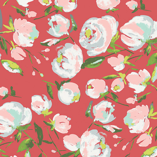 Art Gallery Fabrics - Everlasting Blooms Berry in Knit