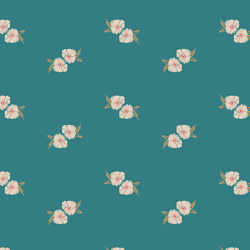 Art Gallery Fabrics - Flower Stamp Adore Knit Fabric