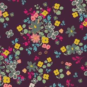 Art Gallery Fabrics - Blooming Soul Plum