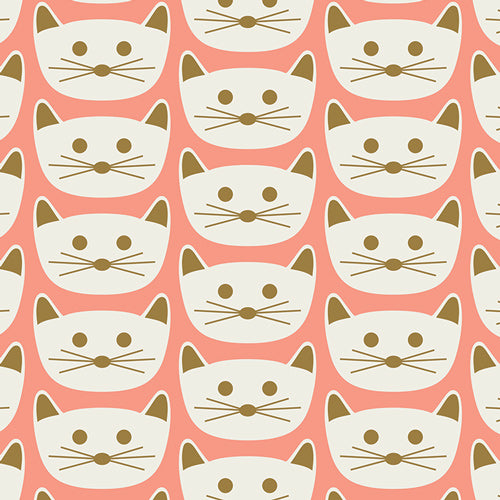 Art Gallery Fabric - Cat Nap Pink Knit Fabric