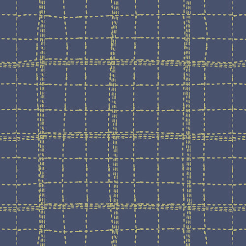 Art Gallery Fabrics - Deep Sea Plaid Knit Fabric