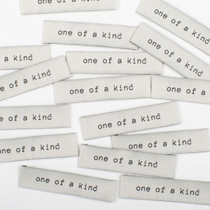 "Kylie and the Machine - ""ONE OF A KIND"" Pack of 8 Woven Labels"