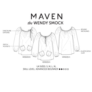 Maven Sewing Patterns - The Wendy Smock Top