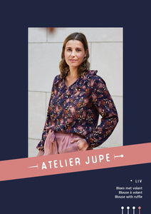 Atelier Jupe - Liv Blouse with Ruffle Sewing Pattern