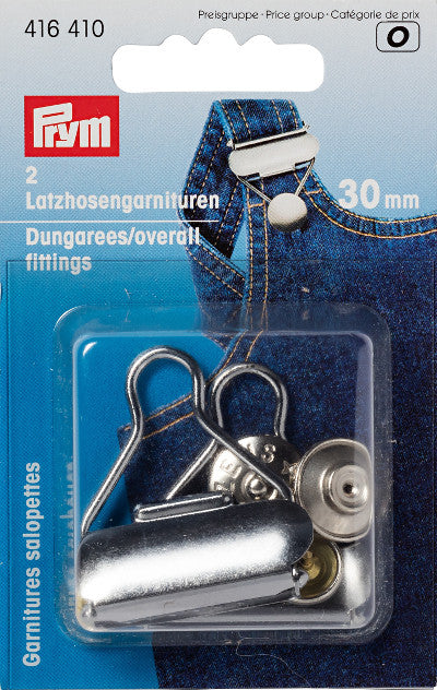 Prym Dungaree/ Overall fittings - 2 pack 30mm