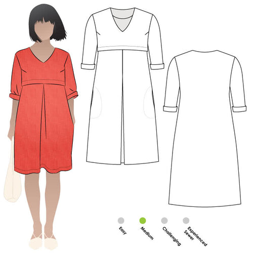 Style ARC - Patricia Rose Dress Dress (Sizes 18 - 30)  Sewing Pattern