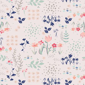 Art Gallery Fabric - Paperie Library Gardens Knit Fabric