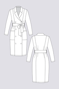 Named Clothing - PILVI Coat Dress Sewing Pattern