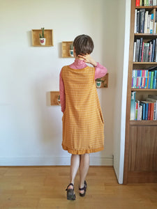 Cocowawa Pumpkin Cardigan / Cardi Dress  Sewing Kit in Ducks Clay Ochre French Terry