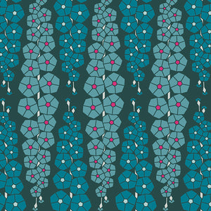 Art Gallery Fabrics - Gladiolumns Deepbluem Rayon from Loved to Pieces