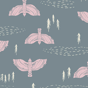 Art Gallery Fabrics - Wind Observer Fog in Rayon
