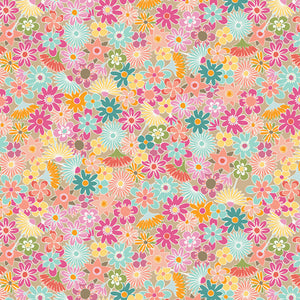 Art Gallery Fabrics - Flowers All Around Rayon / Viscose Dress Fabric