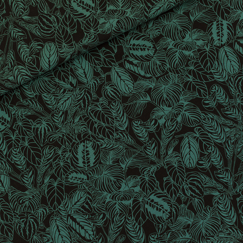REMNANT 1.36 meters See You At Six - Cosy House Plants Viscose Rayon