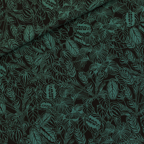 REMNANT 0.91 meter See You At Six - Cosy House Plants Viscose Rayon