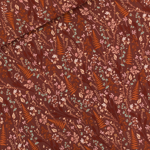 See You At Six - Ferns & Flowers Tortoise Brown Viscose Rayon
