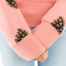 See You At Six - Pine Cones Cameo Brownish Pink French Terry