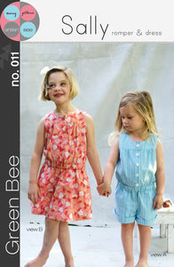Green Bee -  Sally - Romper and Dress Sewing Pattern