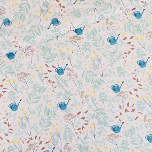 See You At Six - Flower Garden Cotton Gabardine Twill