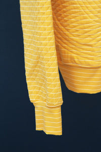 Art Gallery Fabric - Striped Sleek Sun knit fabric